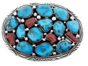 About the turquoise belt buckle